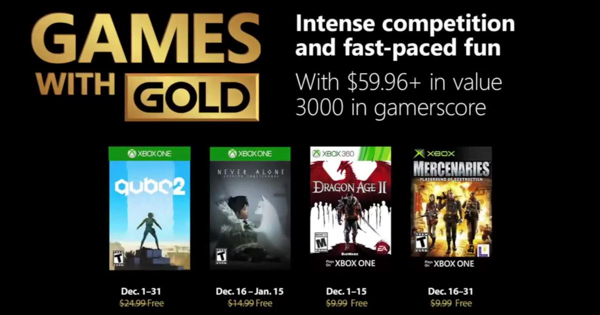 Games with Gold Dicembre 2018!